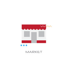 shopping mall building shop store building market vector image