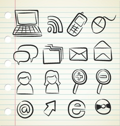 Sketchy icon set vector