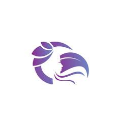 Skincare logo template vector