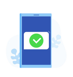 smartphone and checkmark vector image
