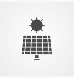 Solar panel icon sign symbol vector