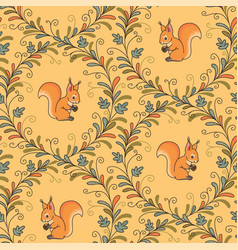 Squirrels pattern vector
