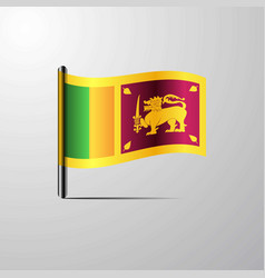 sri lanka waving shiny flag design vector image