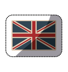 sticker flag united kingdom classic british opaque vector image