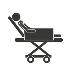 stretcher hospital emergency icon vector image