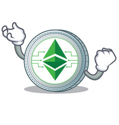 successful ethereum classic character cartoon vector image