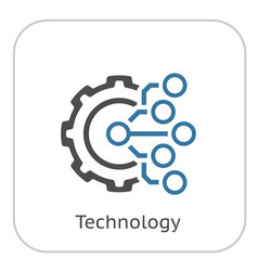 Technology icon gear and electronic digital vector