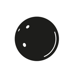 The bowling icon on white background vector