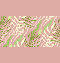 tropical nature abstract seamless pattern vector image