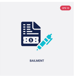 Two color bailment icon from business concept vector