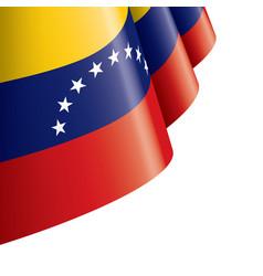 Venezuela flag on a white vector