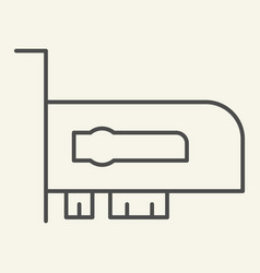 Video card thin line icon hardware vector