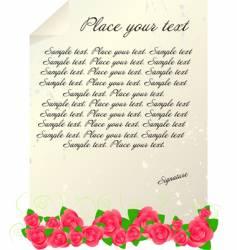 Vintage letter template vector