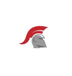 Warrior helmet logo vector