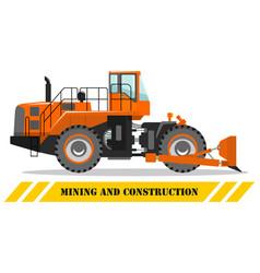 wheel dozer bulldozer detailed vector image