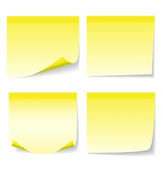 Yellow stick note set vector image