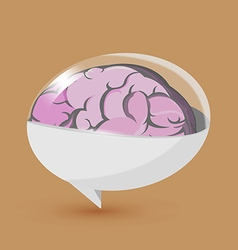 Brain Balloon Text Symbol Logo vector image
