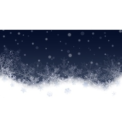 Christmas background with snowflakes vector image vector image