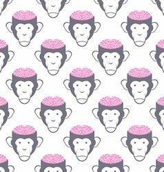 Monkey Brains seamless background pattern of vector image vector image