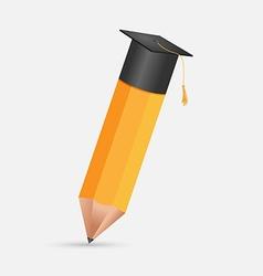 Pencil Education Cap Graduation Symbol vector image vector image
