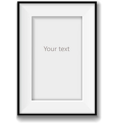 Picture frame isolated on white background vector image vector image