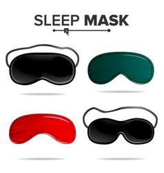 sleep mask set isolated of vector image