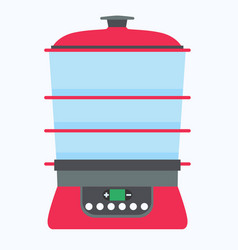 steamer food icon cook cooking kitchen vector image vector image