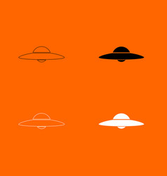 ufo flying saucer icon vector image