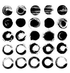 zen circles grunge brush strokes rounds vector image