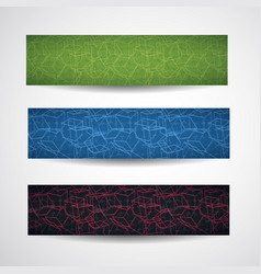abstract cubic style banner set vector image