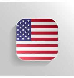 Button - United States of America Flag Icon vector image vector image