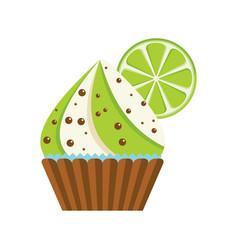 cake lime chocolate vector image