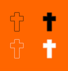 church cross icon vector image