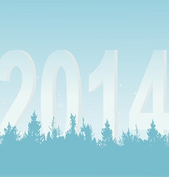 New Years wood on a light background vector image vector image