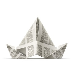 paper cap as origami vector image