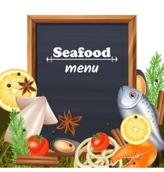 Seafood Menu Template vector image vector image