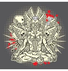 Stylish grunge vector image vector image