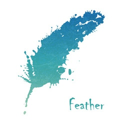 Watercolor feather background vector image