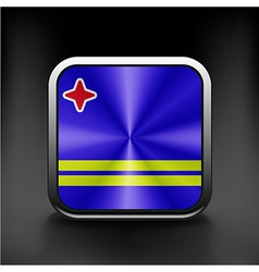 Aruba flag national travel icon country symbol vector image