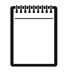 blank spiral notepad icon simple vector image