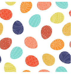 easter eggs - seamless pattern colorful vector image
