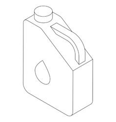 Jerry can icon isometric 3d style vector image vector image
