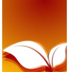 Orange leaves autumn wave design vector image vector image