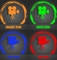 Video camera icon Fashionable modern style In the vector image