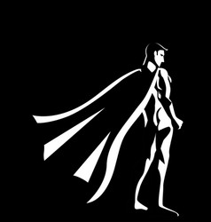 Black and white of a superhero vector