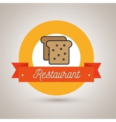 bread bakery restaurant icon vector image