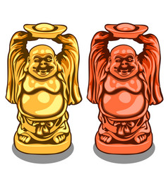 gold and bronze figure of indian deity vector image
