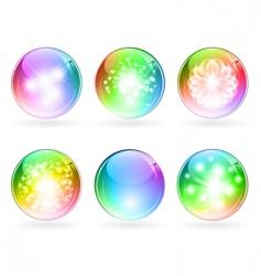 multicolored balls vector image vector image
