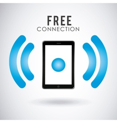 wi-fi connection design vector image vector image