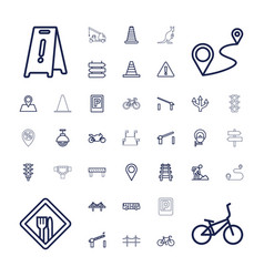37 road icons vector